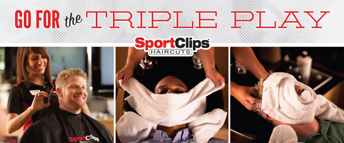 The Sport Clips Haircuts of Woodland Gateway Triple Play